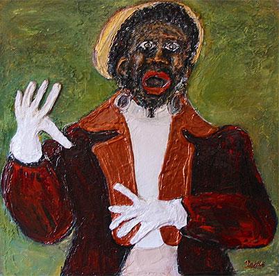 Clown Chocolat : Peinture De Pierrette Paillot