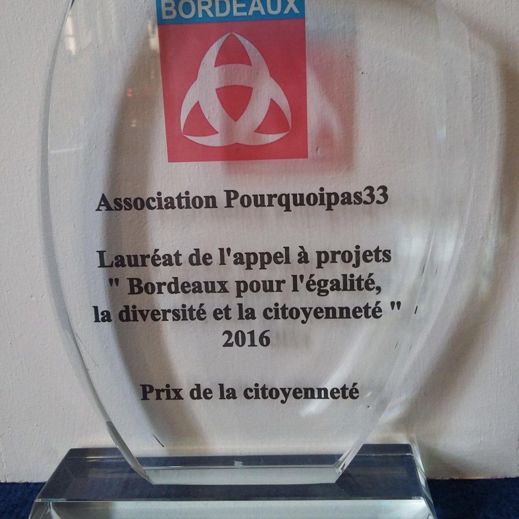 Trophée Du Prix De La Citoyenneté 2016 Bordeaux