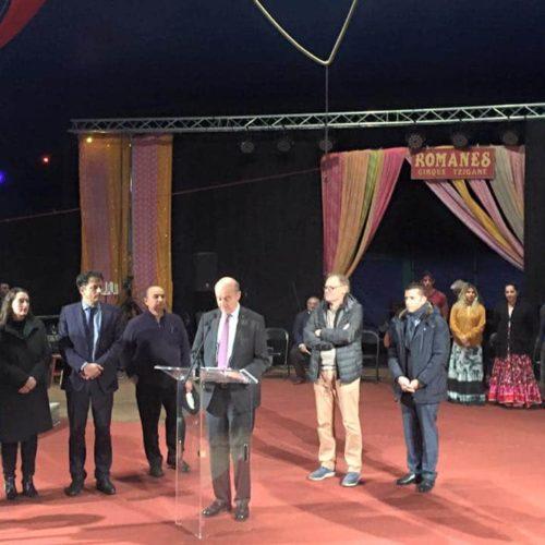 Inauguration De L'aire Du Clown Chocolat Sur TF1