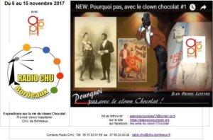 Clown Chocolat radio CHU