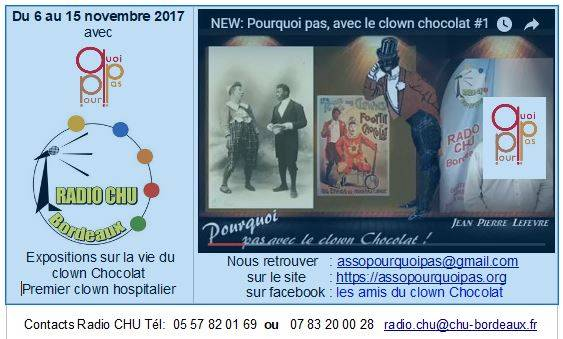 Expositions Clown Chocolat CHU Bordeaux