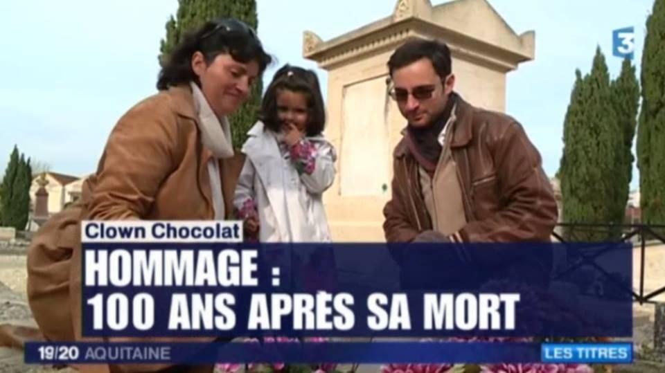 Une Famille Motivée Par Le Clown Chocolat