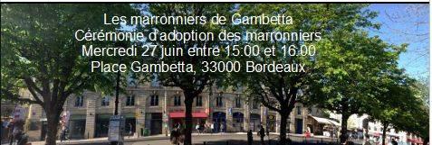 Cérémonie D'adoption Des Marronniers Le 27 Juin à 15 H