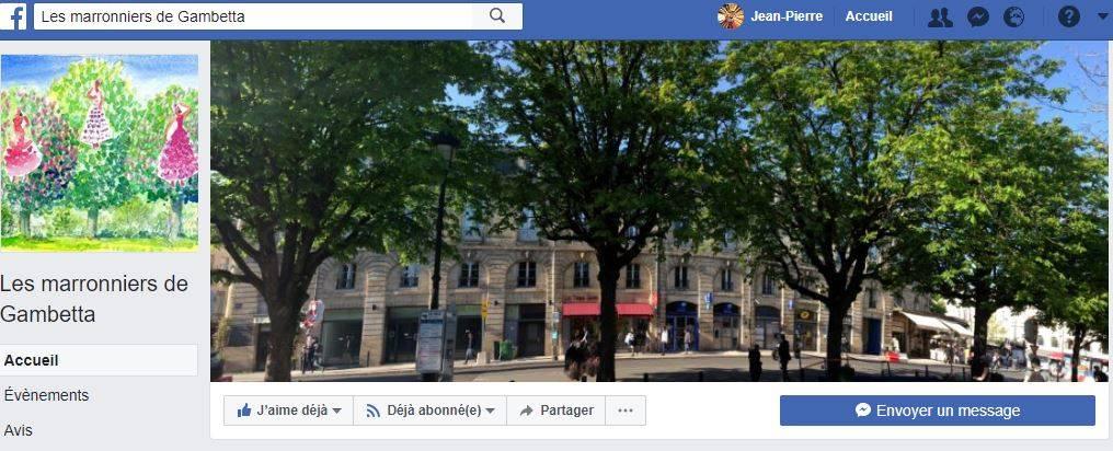 Page FB Du Collectif Des Marronniers De La Place Gambetta