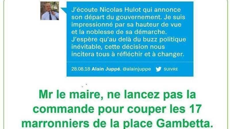 Déclaration Juppé Démission Hulot