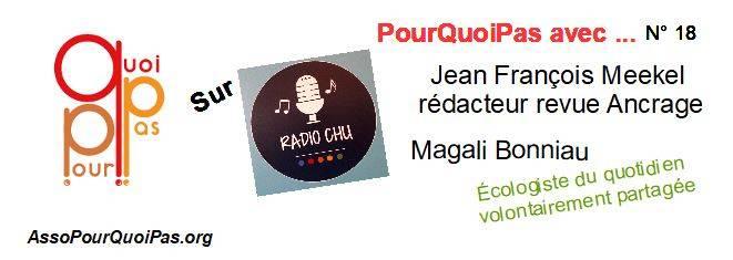PourQuoiPas Avec … Jean François Meekel Et Magali Bonniau Sur Radio CHU