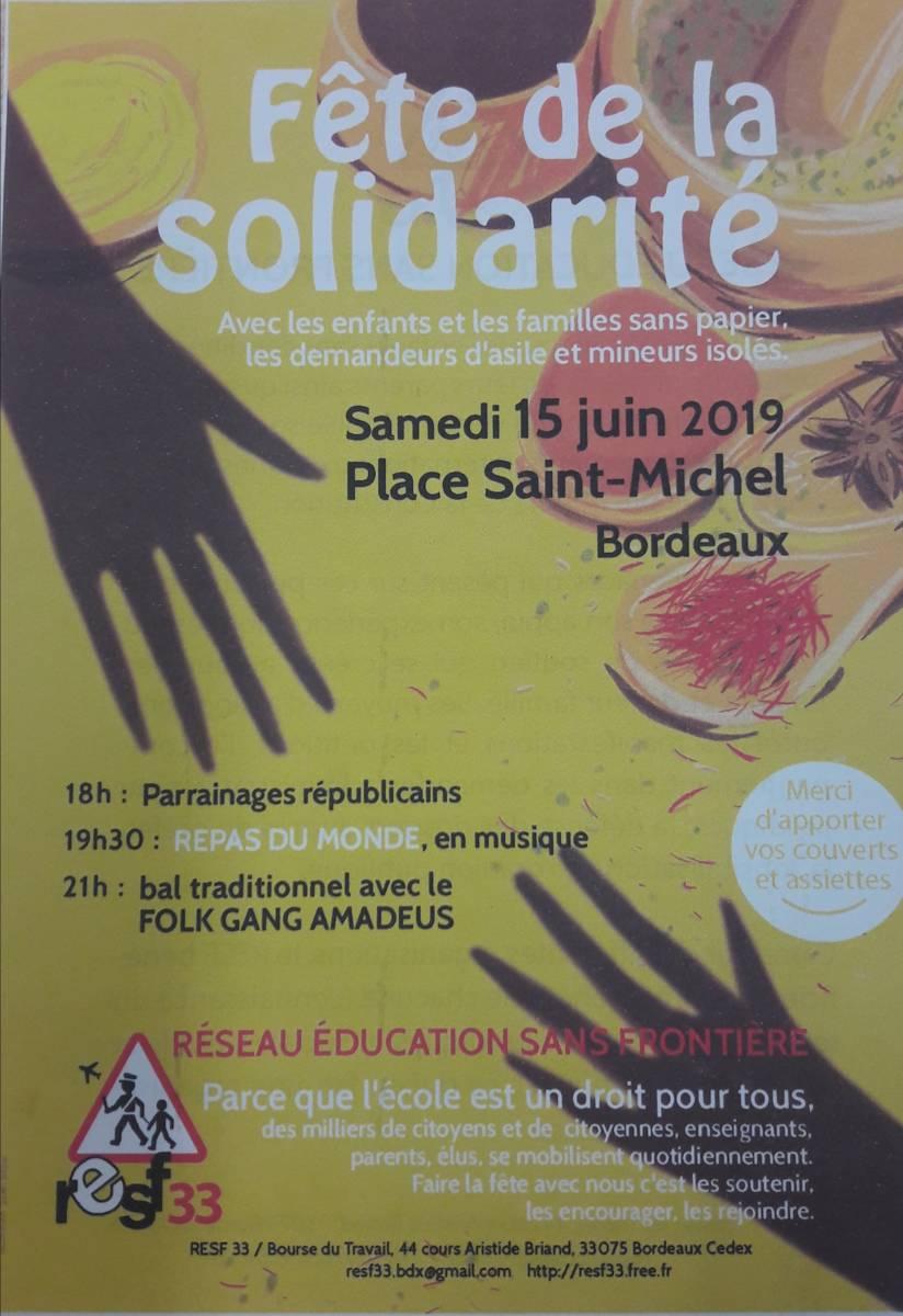 Fête Du RESF 33, 15 Juin 2019
