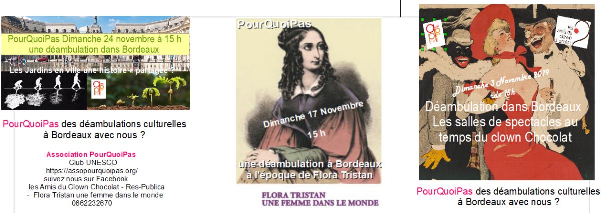 Déambulations à Bordeaux En Novembre PourQuoiPas ?