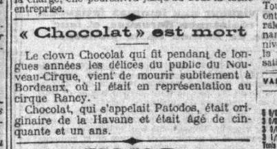 Mort Du Clown Le 4 Novembre 1917