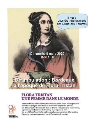 8 Mars Déambulations Sur Les Traces De Flora Tristan