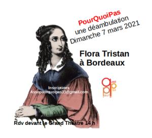 Déambulation Flora Tristant dimanche 7 mars 2021