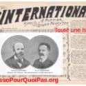 L'Internationale Toute Une Histoire Eugène Pottier Pierre Degeyter