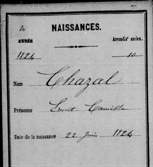 Acte De Naissance Ernest