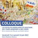Révoltes Populaires En Aquitaine Rencontres Des 11 Et 12 Juin 2021